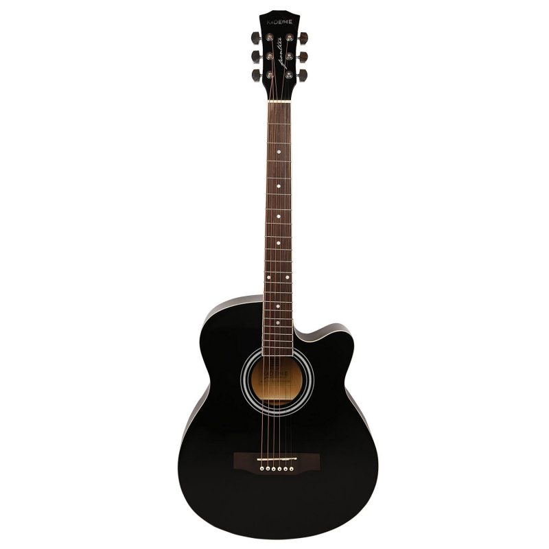 Kadence 6 String Acoustic Guitar Black
